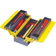 Ящик раскладной металлический IZELTAS с инструментами для сантехников 5 секций, 8420005028